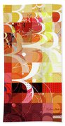 Arraygraphy - Sunset Inferno Triptych Bath Towel