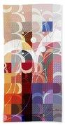 Arraygraphy - Sunset Inferno Triptych Part 3 Bath Towel
