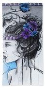 Art Nouveau Girl 1 Hand Towel