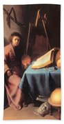 Artist In His Studio 1632 Bath Towel