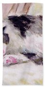 Artist's Cat Sleeping Bath Towel