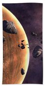 Artists Concept Of A Supernova Bath Towel by Frieso Hoevelkamp