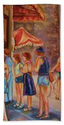 Artists Corner Rue St Jacques Bath Towel