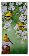 American Goldfinch Spring Hand Towel by Crista Forest