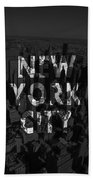 New York City - Black Bath Towel
