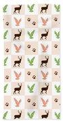 Rustic Wildlife Pattern Bath Towel