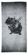 Angry Street Art Mouse  Hamster Baseball Edit  Bath Towel