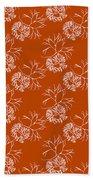 Orange Seaweed Marine Art Furcellaria Fastigiata Bath Towel