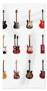 Guitar Icons No1 Hand Towel