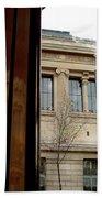 Paris Cafe Views Reflections Bath Towel