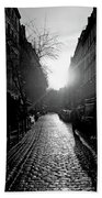 Evening Walk In Paris Bw Bath Towel