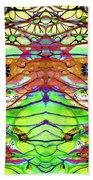 Wild Flowers Abstract Art - Sharon Cummings Bath Towel