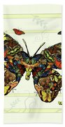Colorful Butterfly Collage Bath Towel