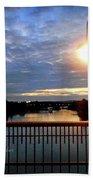 Boat Lights Sunset On Lady Bird Lake Bath Towel