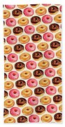 Donut Pattern Bath Towel