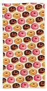 Donut Pattern Bath Towel