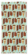 Ice Cream Novelties Pattern Bath Towel