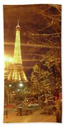 Eiffel Tower By Bus Tour Hand Towel