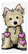 Heartstrings Cairn Terrier Bath Towel