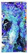 Beauty And The Beast - Lion Art - Sharon Cummings Bath Towel