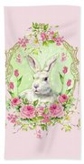 Spring Bunny Bath Towel by Wendy Paula Patterson