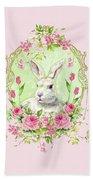 Spring Bunny Bath Sheet by Wendy Paula Patterson