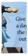Blue Jay And A Peanut Bath Towel