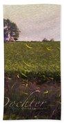 1300 - Fireflies Impression Version Bath Towel