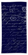 Blue Midnight Butterfly Hand Towel