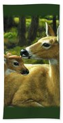 Whitetail Deer - First Spring Bath Towel