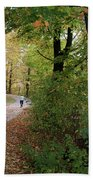 Autumn Bicycling Vertical One Bath Towel