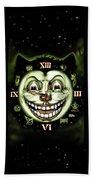 Black Cat 13 Halloween Clock Bath Towel