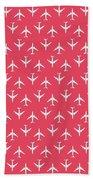 747 Jumbo Jet Airliner Aircraft - Crimson Bath Towel
