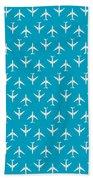 747 Jumbo Jet Airliner Aircraft - Cyan Bath Towel