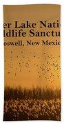 Bitter Lake National Wildlife Refuge Birds, Roswell, New Mexico Bath Towel
