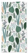 End Of Winter Spring Thaw Garden Pattern Bath Towel