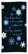 Snowflakes 2 Bath Towel