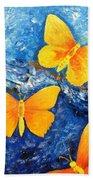 Butterfly In Blue 1 Bath Towel