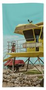 T7 Lifeguard Station Kapukaulua Beach Paia Maui Hawaii Bath Towel