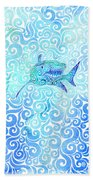 Swirly Shark Bath Towel