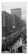 Asahel Curtis, 1874-1941, Draft Parade, Seattle Bath Towel