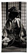 Asian Woman In Kimono Hand Towel