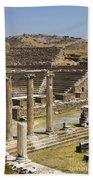 Asklepion Theatre And Columns Bath Towel