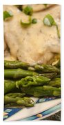 Asparagus And Stroganoff Hand Towel