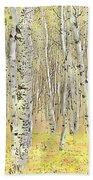 Aspen Forest 2 - Photo Painting Bath Towel