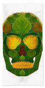 Aspen Leaf Skull 9 Bath Towel