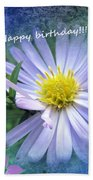 Aster ,  Greeting Card Bath Towel