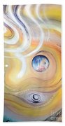 Astral Vision. Earth And Its Energy Bath Towel