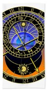Astronomical Clock Bath Towel