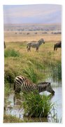 At The Watering Hole Bath Towel